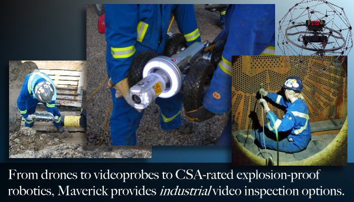 Maverick provides pipe, vessel, and tube video camera inspection services to Edmonton, Fort McMurray, Lloydminster, Whitecourt, Drayton Valley, and more.