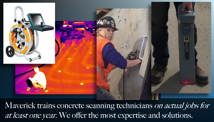 From Edmonton Alberta, Maverick offers concrete scanning and other inspection services.