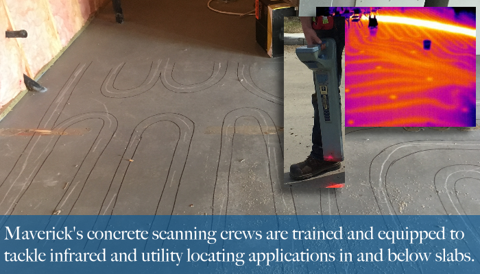 Edmonton's Maverick will add infrared thermal imaging or standard utility locating to a concrete scan if needed.