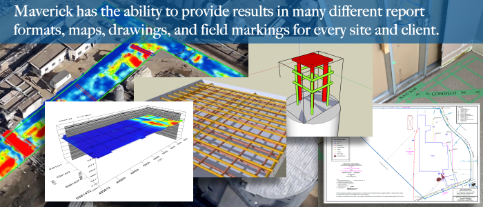Data from Ground-penetrating Radar (GPR) investigations can be provided to Maverick's clients in a variety of formats.