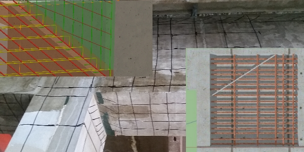 Ground-penetrating Radar (GPR) can be used to scan and map out structural features in concrete.