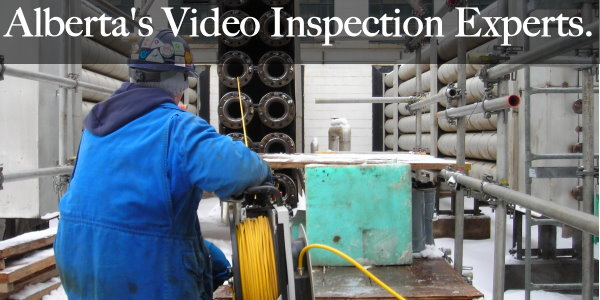 Pipe camera inspections, CCTV inspections, borescope inspections.
