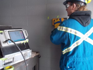GPR, Wall Scan, Floor Scan, X-ray, Concrete scanning, REbar scanning, Concrete inspection, ground penetrating-radar,ground scans using GPR, Edmonton, Alberta, Oil Sands, Fort McMurray, Western Canada