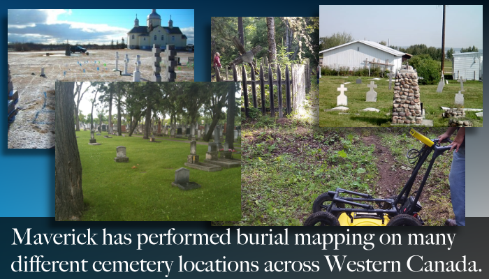 From Edmonton Alberta, Maverick provides services including First Nation burials mapping, cemetery surveys, and forensic support.