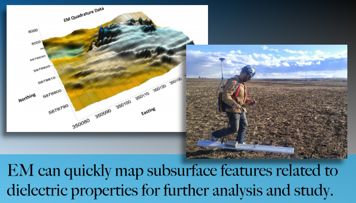 From Edmonton Alberta, Maverick can provide EM profiling for analysis and mapping of subsurface features.