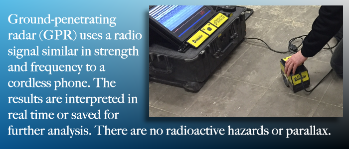 GPR replaces Xray for concrete scans.