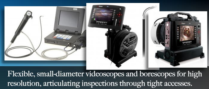 Alberta video inspection services with videoscopes, borescopes, fiberscopes.