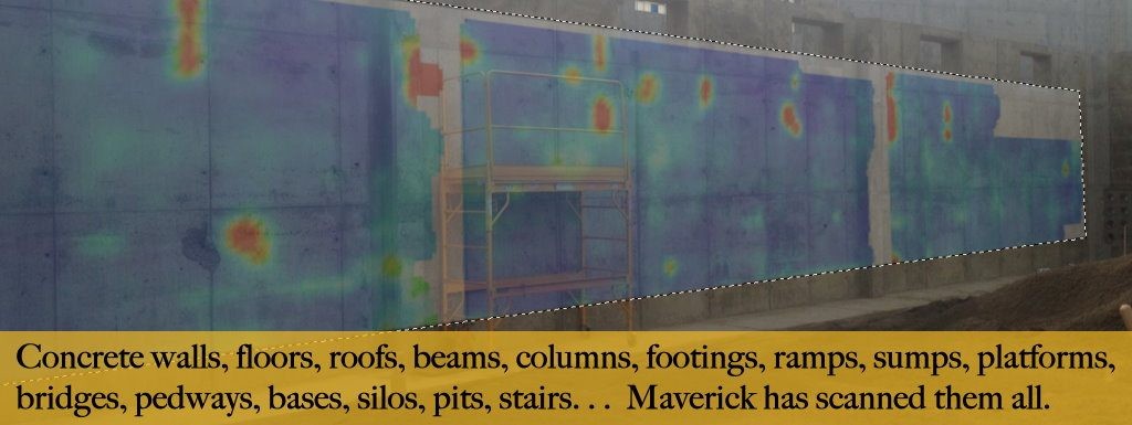Edmonton concrete radar floor scans, wall scans, roof scans, beam scans, footing scans.