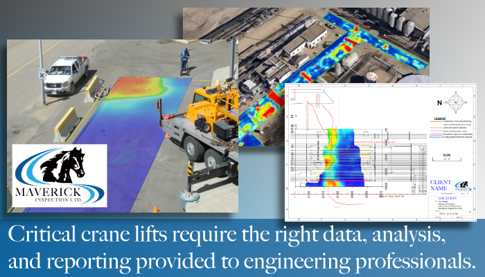 From Edmonton Alberta Maverick provides engineering GPR data for concrete, utility locates, subsurface stability, abandoned wells, and more.
