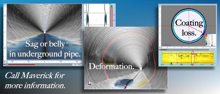 Laser profiling is used to measure pipe ovality, deformations, coating and wall loss, build-up, etc.