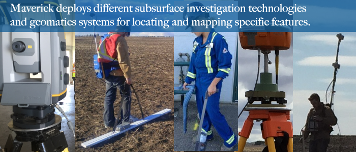 From Edmonton Alberta Maverick deploys multiple subsurface investigation technologies to complement Ground-penetrating Radar (GPR).