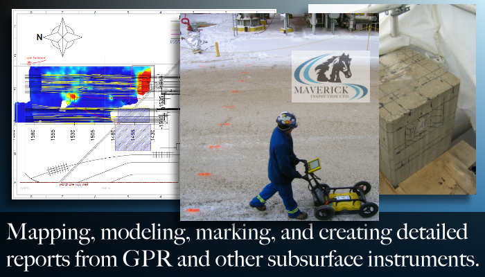 From Edmonton Alberta, Maverick provides industrial GPR services to Fort McMurray, Fort Saskatchewan, Red Deer, Lloydminster, Calgary, and more.