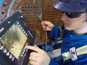 Exchanger tube inspections in areas such as Edmonton, Grande Prairie, Red Deer, Fort McMurray, Lloydminster, Whitecourt and others.