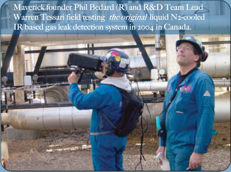 Early infrared gas leak detection technology research and development.
