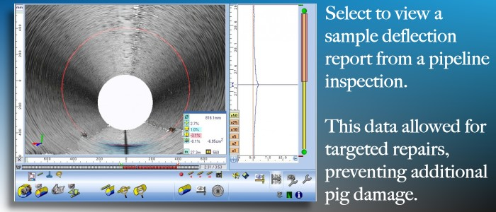 Laser profiling is an excellent add-on to video inspection for pipeline inspections.