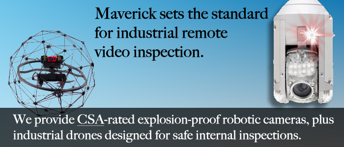 Alberta industrial drone inspection and CSA rated explosion proof camera systems.