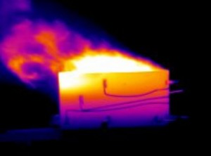 Infrared cameras are excellent tools for monitoring the heat zone moving down a tank during an crude tank fire. Due to the importance of avoiding being caught in a boil-overs during tank fire fighting, Maverick has built a small simulation tank for training site personnel how to avoid making serious mistakes when using thermal imaging tools.