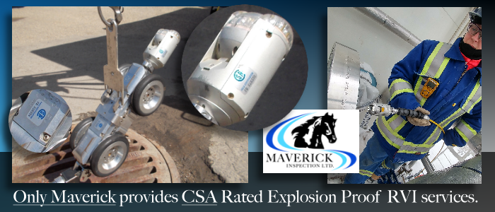 Alberta robotic video inspection systems including CSA rated explosion proof cameras.