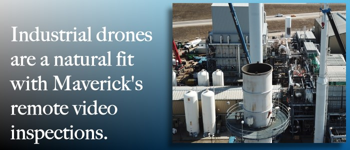 Maverick Inspection adds industrial drone inspection to its specialised non-destructive testing services.