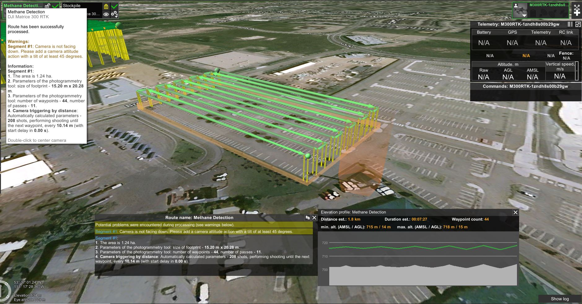 Methane Leak Detection Flight Plan